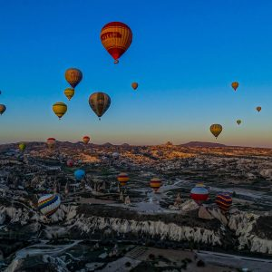 montgolfière dans la cappadoce