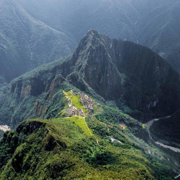 View of the Machu Picchu